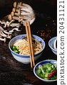 Asian soup ramen with feta cheese 20431121