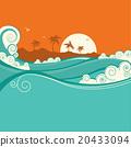 sea vector waves 20433094