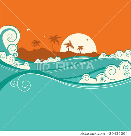 Seaside background.Vector illustration 20433094