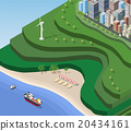 Beach Sea isometric 20434161