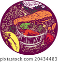 Winter Squash Pumpkin Oval Woodcut 20434483