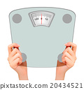 Two hands, holding up a scale. Concept of diet. 20434521