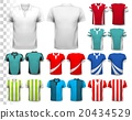 Set of colorful soccer jerseys. 20434529