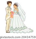 婚礼 夫妇 一对 20434759