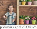 girl caring for her plants 20436125