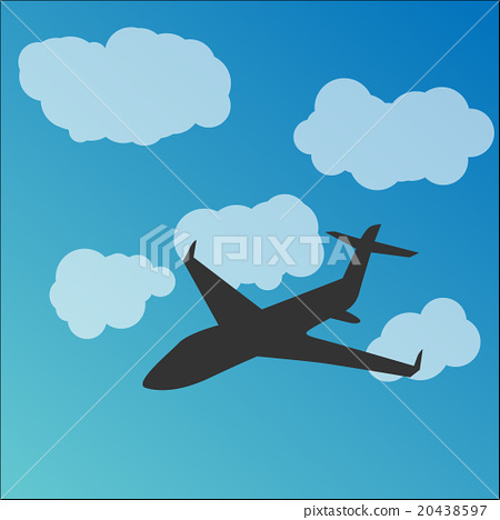 Plane silhouette in the sky 20438597