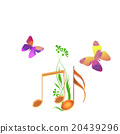 flower, flowers, Musical Note 20439296