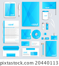 Blue set of vector corporate identity template 20440113