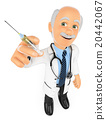 3D Doctor with a syringe. Vaccine concept 20442067