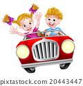 car, cartoon, driving 20443447