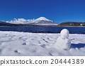 雪人 富士山 冬天 20444389