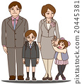 Congratulations on elementary school entrance congratulation (Dad, mother, and me and sister) 20445381