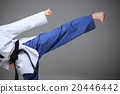 The karate girl with black belt  20446442