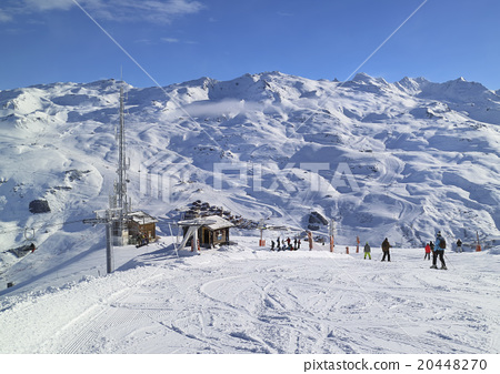 Stock Photo: French Alps ski snowboard winter sport mountains