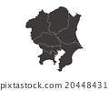 """Illustration material _ Map """"Tohoku district"""" 20448431"""