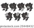 """Illustration material _ Map """"Tohoku district"""" 20448432"""