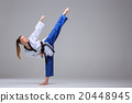 The karate girl with black belt  20448945