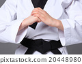 The karate girl with black belt  20448980