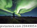 Aurora borealis above a person 20449054