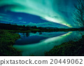Aurora borealis reflecting off a lake 20449062