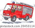 Red Fire Truck Fireman Caricature 20450114