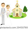 Groom and bride wedding ceremony (church) 20450760