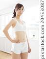 運動服 運動裝 一個年輕成年女性 20453087