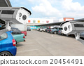 CCTV Camera at the parking department store. 20454491