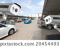 CCTV Camera at the parking department store. 20454493