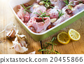 Cooking fresh raw rabbit meat 20455866