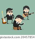 Group of young male musicians vector illustration 20457854