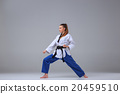 The karate girl with black belt  20459510