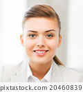 happy smiling young woman face or portrait 20460839