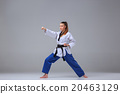 The karate girl with black belt  20463129