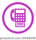 Fax Rounded Vector Icon 20468096