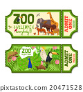 Colorful Zoo Tickets With Tropical Background   20471528