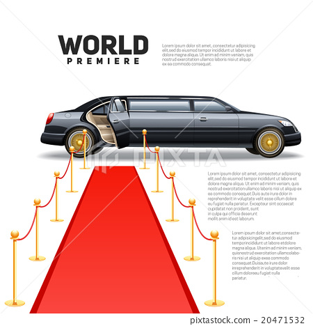 Red Carpet Limousine Colorful Picture 20471532