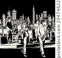 Jazz band playing in New York 20474622