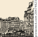 view of Ile Saint Louis in Paris 20474623