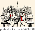 two jazz men playing in New York 20474638
