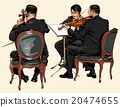 Three musicians of classic orchestra 20474655