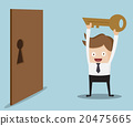businessman show key for locked door 20475665