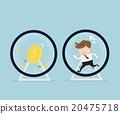 businessman running in hamster wheel 20475718