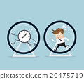 businessman running in hamster wheel 20475719