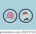 businessman running in hamster wheel 20475720