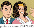 Man and woman love couple in pop art comic style 20478785