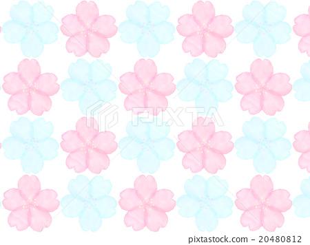 Sakura Cherry Cute Background Water Color Stock