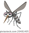 Weak mosquito illustration 20481405