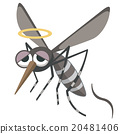 Illustration of a dead mosquito 20481406