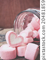 Heart of pink marshmallows 20481859